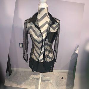 Naughty secretary blouse and skirt